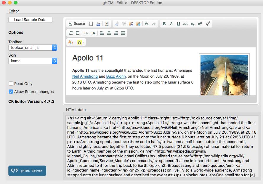 gHTML Editor Desktop Edition - Xojo Add-Ons